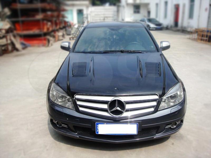 2008-2010 Mercedes Benz W204 C-Class DTM Style Hood Bonnet CF (25)