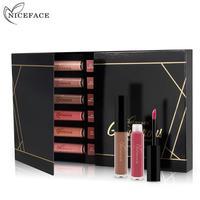 NICEFACE 12 Shades Liquid Lipsticks Waterproof Matte Moisturizer Smooth Long Lasting Lip Gloss Cosmetic Beauty Makeup
