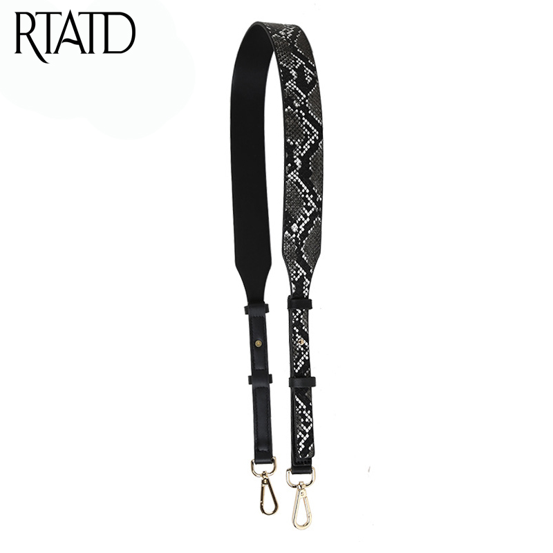 RTATD Fashion Bag Strap For Women Handbags Shoulder Strap For Lady Adjust Bags Accessories Stylish Width Belts J006 stylish women s hit color spaghetti strap blouse