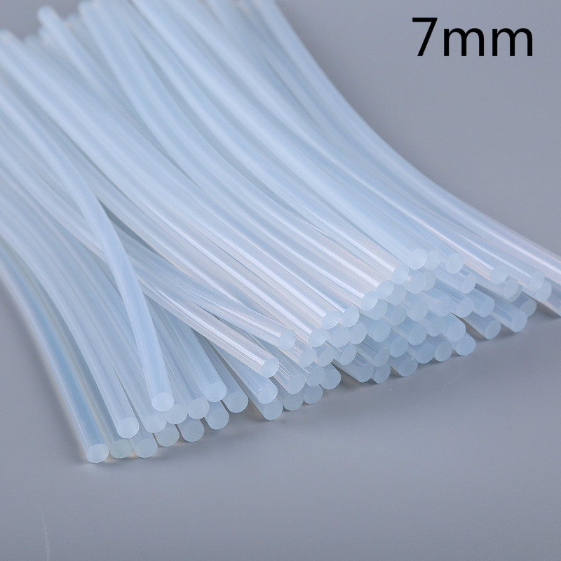 Glue Stick 7mm 10pcs Hot Melt Glue Gun Silicone Crafts Home DIY Tools Transparent Glue Gun Stick Adhesive Rods 7mm Lijm Sticks