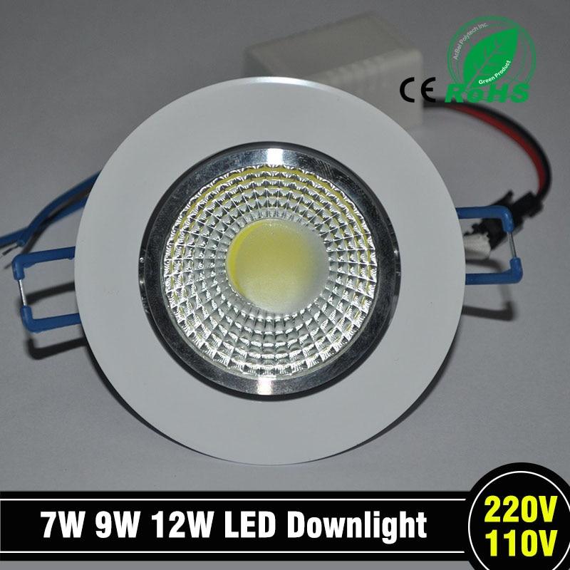 1 gab. Jaunākais 9 W LED mikroshēma COB LED iegremdēts griestu uz leju apgaismojums Spot Lamp White Light White / Warm epistar LED lampa
