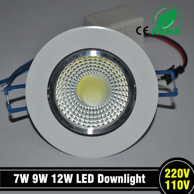 1 pc Newest 9 W  LED chip COB LED recessed ceiling downlight Spot Lamp White Light White / Warm epistar led lamp