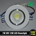 9 W LED chip COB recesso teto downlight Spot lâmpada branco branco / quente epistar lâmpada LED