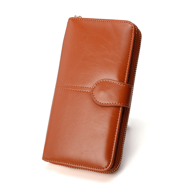 Women's Long Hasp Leather Wallets