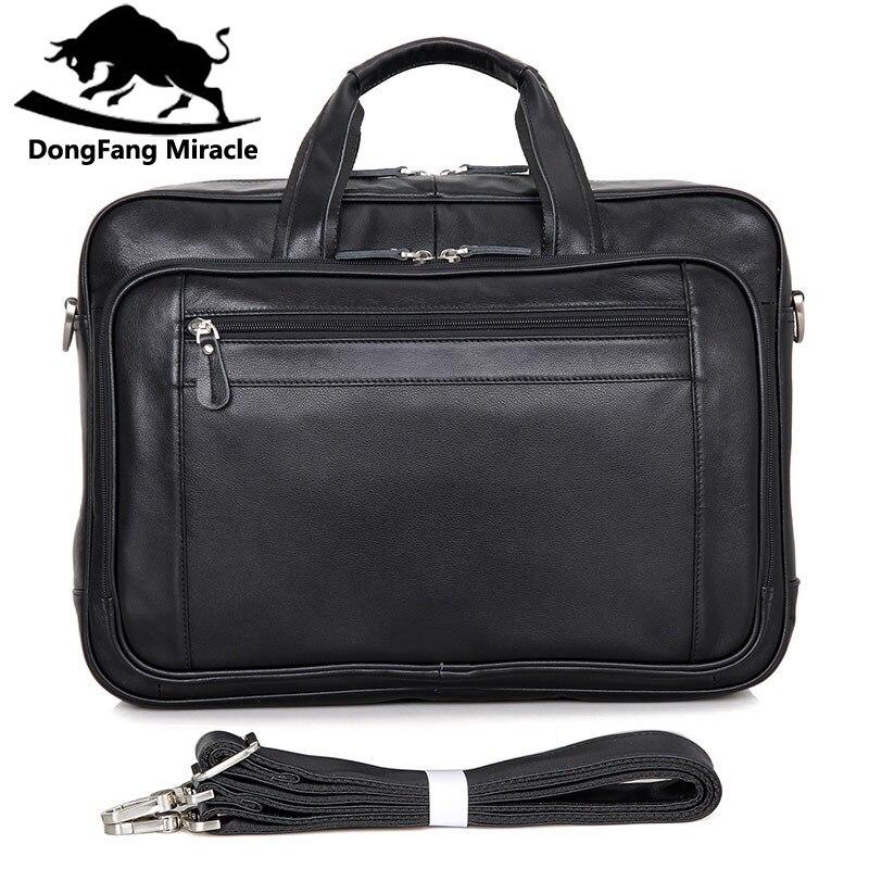 Messager D'épaule Marque Style Américain D'affaires Handbag17 Noir De Hommes Européen Des Sac Cuir Véritable En Ordinateur Pouces Et qwOvxw4t