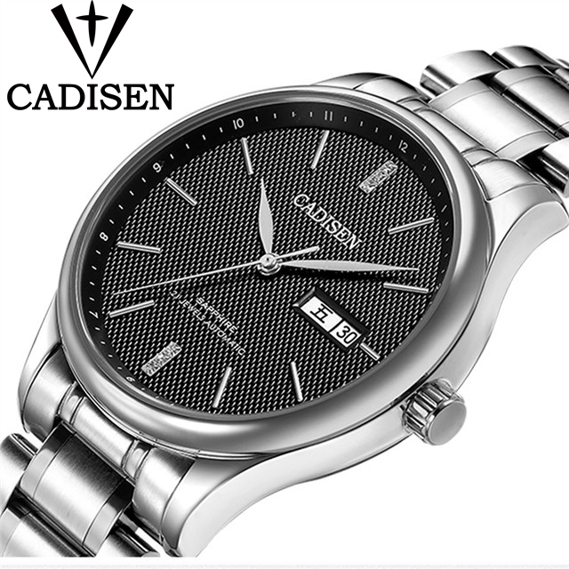 CADISEN Top Brand Luxury Watch Men Fashion Dress Calendar Stainless Steel Watches Men s Casual Automatic