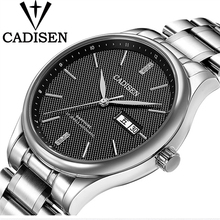 CADISEN Top Brand Luxury Watch Men Fashion Dress Calendar Stainless Steel Watches Men's Casual  Automatic Mechanical Wristwatch jargar jag6055m4s2 new men automatic fashion dress wristwatch silver color stainless steel band free shipping