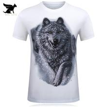 Camiseta de Los Hombres Lobo de la Nieve 3D Impreso Algodón Swag camisetas  Divertidas Unisex palacio Camiseta Homme Ropa camiset. 5c0a6661b20