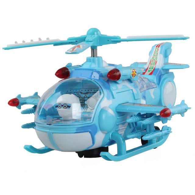 Helicóptero avión de juguete Flash de la música eléctrica helicóptero de Combate universal