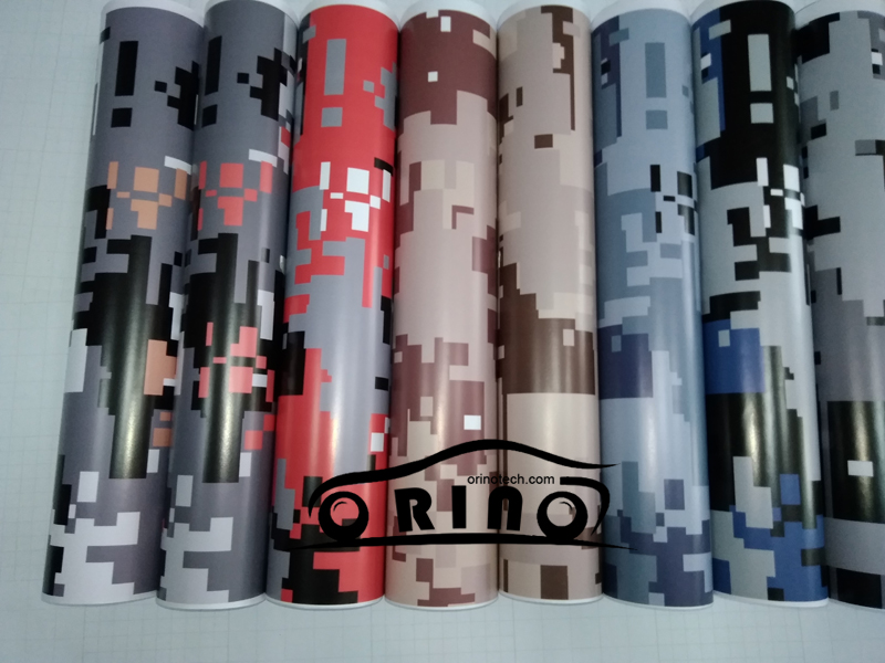 Pixel Digital Camouflage Vinyl Wrap Film Foil With Air Bubble Free Car Wrapping Motorcycle Scooter Decal