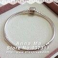 S925 prata pulseiras e pulseiras com fecho 17 cm - 20 cm de base de homens e mulheres pulseiras pulseira YL100