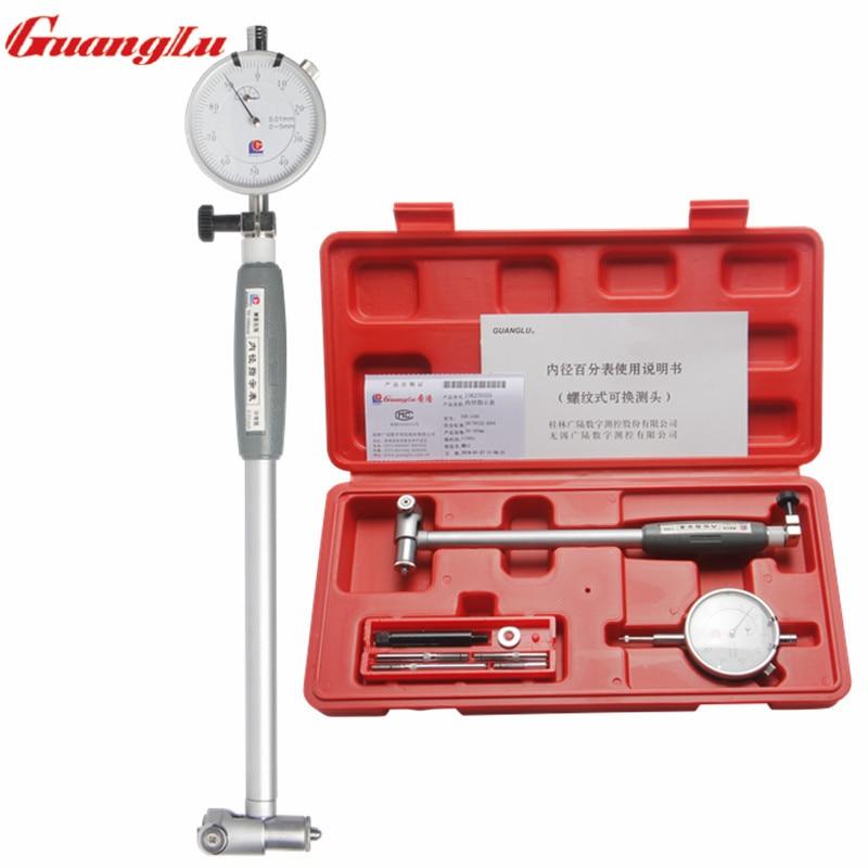 GUANGLU Dial Indicator Bore Gauge 50 160mm Center Ring Dial Indicator Measuring Gage