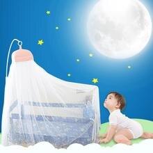 Детская белая кровать москитная сетка кронштейн детская противомоскитная сетка для коляски кронштейн круглый Кружевной занавес Купол Принцесса кровать сетчатый балдахин