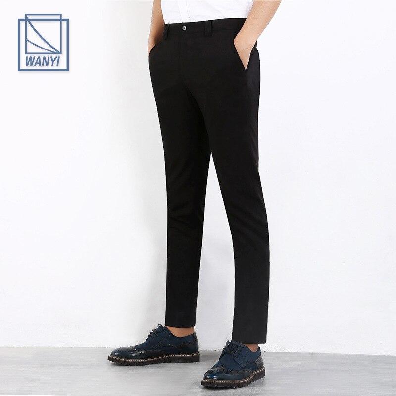 2016 Men Casual Suit Pants Brand Design Business Dress Pant Male Social Wedding Slim Fit Fashion ...