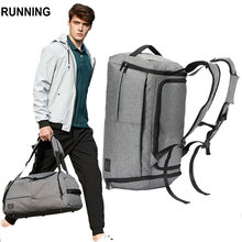 Luggage Bags - Luggage  - 35L Men Multifunction Travel Bag Large Capacity Black Gray Backpack Canvas Casual Duffle Bag 2018 Cabin Luggage Men Travel Bags