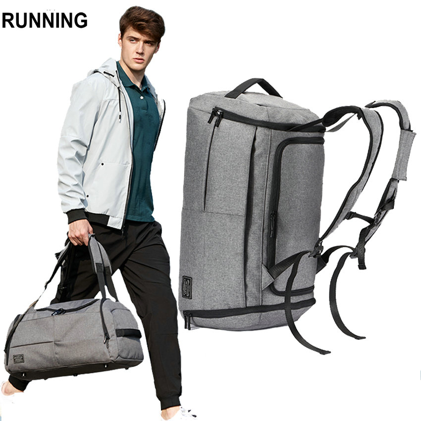 Travel Bag men 45L Multifunction waterproof Canvas gray big bag backpack travel duffle 2018 cabin Luggage bags