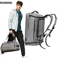 Travel Bag men 45L Multifunction waterproof Canvas gray big bag backpack travel duffle bag 2018 cabin Luggage men travel bags
