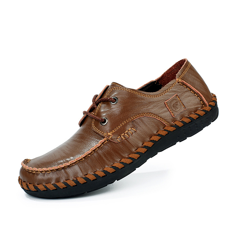 Men's 100% Genuine Leather Shoes Fashion New Brand Handmade Moccasins Shoes Men Business Casual Shoes Breathable Flats Shoes 2A top brand high quality genuine leather casual men shoes cow suede comfortable loafers soft breathable shoes men flats warm