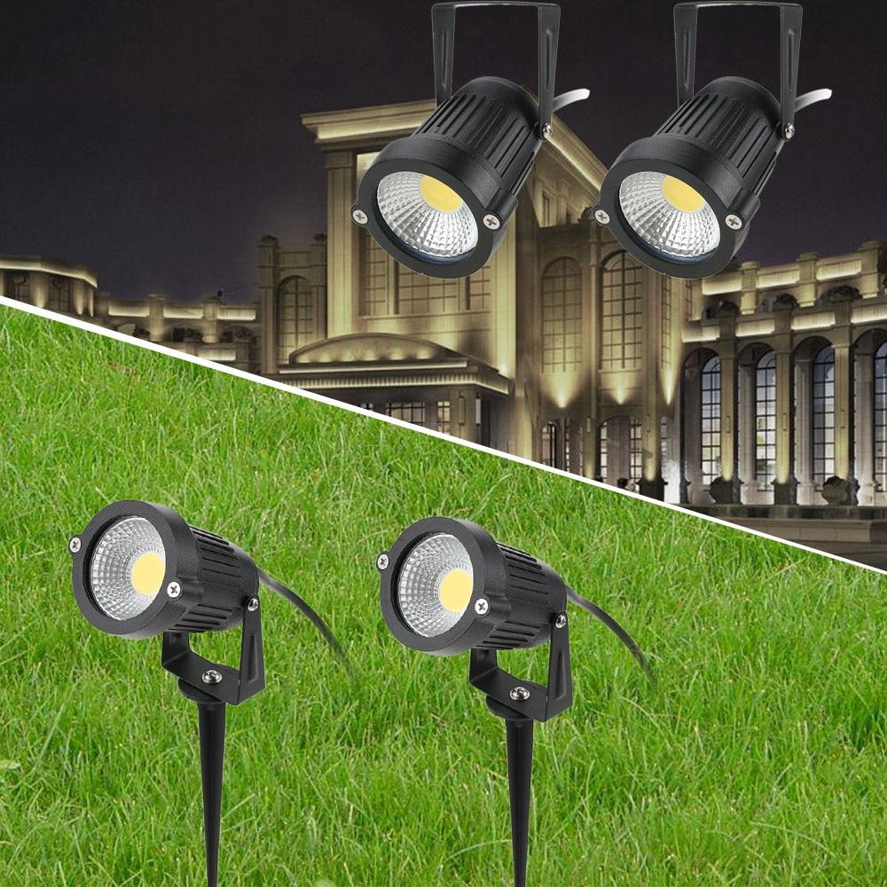 2/4 Pcs 12V Outdoor Garden Light 5W COB Waterproof LED Flood Spot Light Lawn Lamp Garden Wall Yard Path Light Landscape light