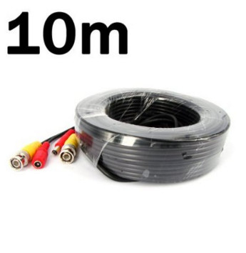10M/33FT Power Video Audio CCTV Home Surveillance Camera Cable BNC RCA ypx 03 10m audio video power extension cable black 10m
