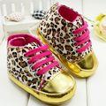 Sapatos de bebê com estampa de leopardo moda meninas sapatos da criança sapatos Primeiros Walkers pré-walkers