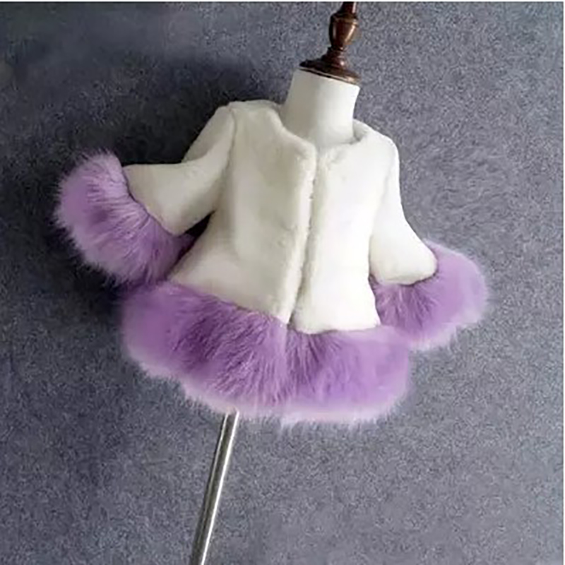 JKP foreign trade autumn and winter new children's imitation fur jacket artificial fox fur coat children's winter coat FPC-191 new boys artificial leather clothing girls fur one coat thicken plus velvet child imitation fur coat autumn and winter fpc 39