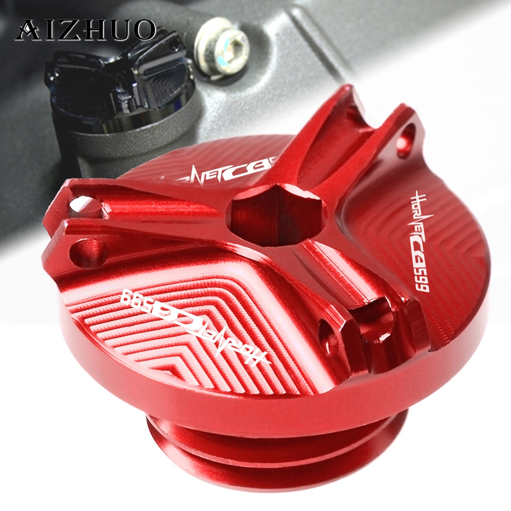 Motorcycle Engine Oil Filler Cup Cap Oil Filler Cap Plug Cover For HONDA CB599 HORNET 1998 2006 2005 2004 2003 2002 2001 2000 in Covers Ornamental Mouldings from Automobiles Motorcycles