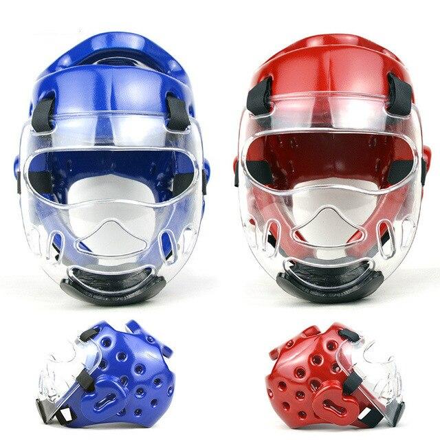 Capacete proteção com máscara para treinamento Taekwondo itf wtf