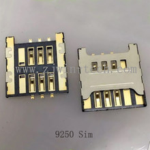 2Pcs-50Pcs/PACK Phone SIM/SD/TF Card Holder Connector Socket For SamSung 9250(China)