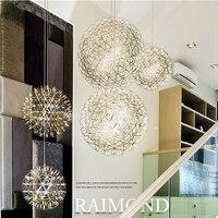 현대 불꽃 펜던트 조명 바 LED 스테인레스 볼 펜던트 램프 바/레스토랑 Lamparas 러스터 85-240 볼트 라운드