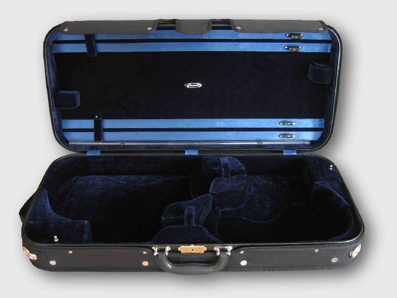 Pro. Wooden Double violin / viola case double case size could be ajustable (with details picture) revolver
