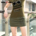 Fashion Womens Cotton Shorts Skirt Military Style Army Green Letter Printing Pattern Shorts Women's Clothing GK-9523A
