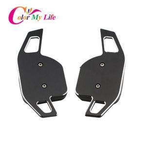 Image 4 - Kleur Mijn Leven Auto Stuurwiel Dsg Paddle Uitbreiding Shifter Shift Sticker Voor Seat Alhambra /Ateca /Leon Fr/Leon /Leon 4 5F