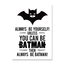 Superman Batman Canvas Painting Posters Cartoon Picture Kids Print Home Decor Wall Art Pictures For Living Room Unframed