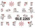 1X NUEVA Encantador Lindo Animal de la Historieta Diseña Calcomanías de Transferencia de Agua Del Arte Del Clavo Decoraciones Wraps Láminas Manicura Consejos BLE2265