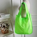Free Shipping Large Nylon Shopping Bags Green Color with Letters Pattern Shoulder Bags Handbags Shopping Bag GZJ017