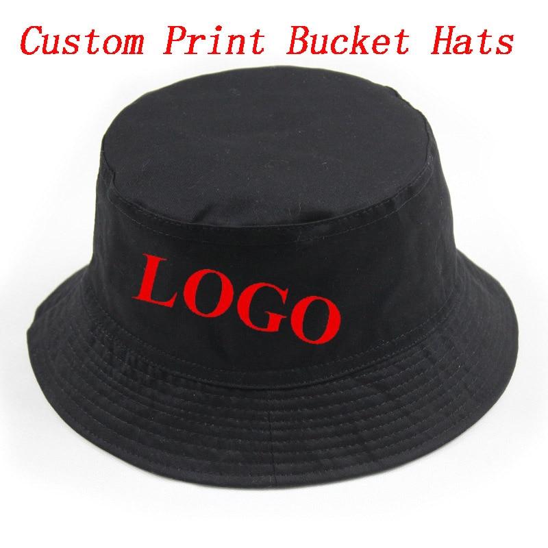 Custom Personalized Print Bucket Hat Adult Men Women Outdoors Sports  Fashion Casual Cotton Gorras Hats Free Shipping dfacc05fceb