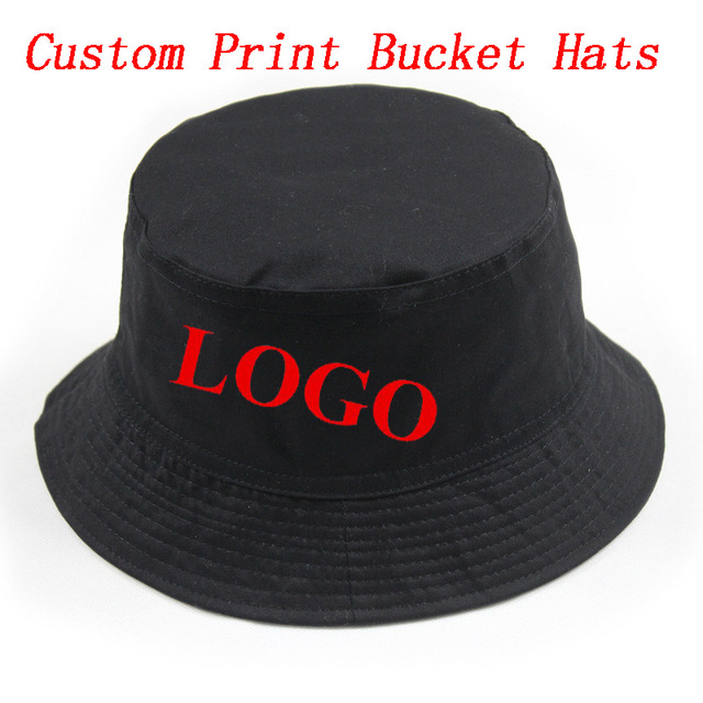 Custom Personalized Print Bucket Hat Adult Men Women Outdoors Sports  Fashion Casual Cotton Gorras Hats Free Shipping b2b00e2f26c