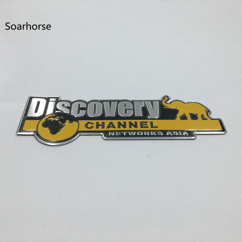 Soarhorse Aluminum Discovery Channel Networks Asia Car Body Rear Trunk Emblem Badge Sticker For Jeep for Dodge for Land Rover car rear trunk security shield cargo cover for land rover discovery 3 lr3 2005 2009 high qualit black beige auto accessories