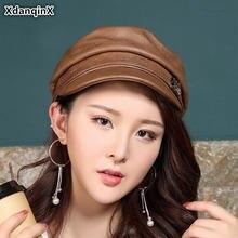Шапка xdanqinx из натуральной кожи элегантные женские армейские