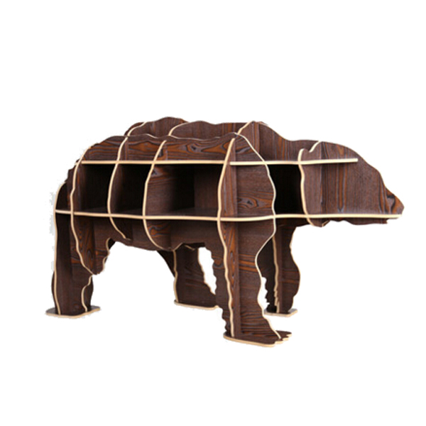 1 set 51*29 inch Novelty Nordic Fashion Europe Style Wooden Polar Bear Side Table / Sideboard For Art Home Decoration TM010M