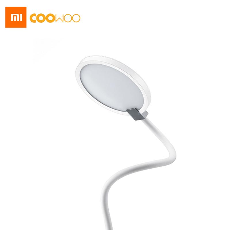 Prix pour Nouveau xiaomi coowoo led lampe de bureau œil protéger multi-fonction double USB Port de Charge 4000 mAh Construit Dans La Batterie 8 Heures éclairage