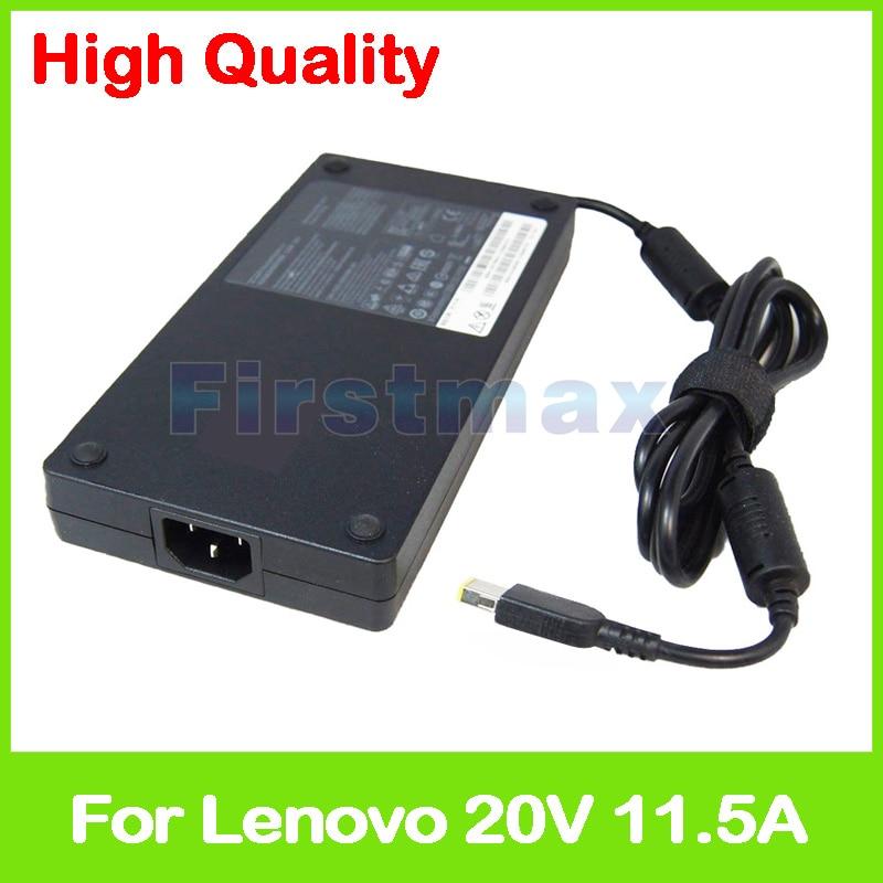 Slim 20 В 11.5A 230 Вт Ноутбук ac адаптер питания зарядное устройство для lenovo ThinkPad P70 P50 P71 P72 P51 5A10H28356 ADL230NDC3A PA-1231-12LA
