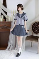 2019 summer arrival japanese jk sets school uniform girls embroideried high school women novelty sailor suits uniforms