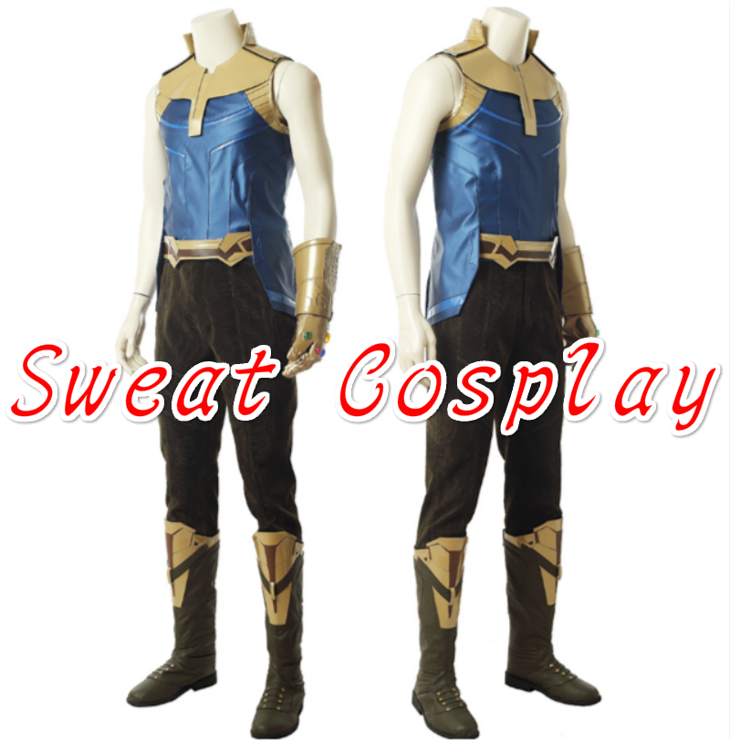 High Quality Avengers Infinity War Thanos Cosplay Costume Carnival