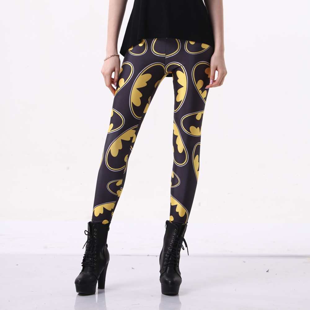 Hipsterme   Leggings   Fitness Slim Marvel Batman Printing Leggins Sexy Fashion Stretch Digital Print Sporting Pants Cool Trousers