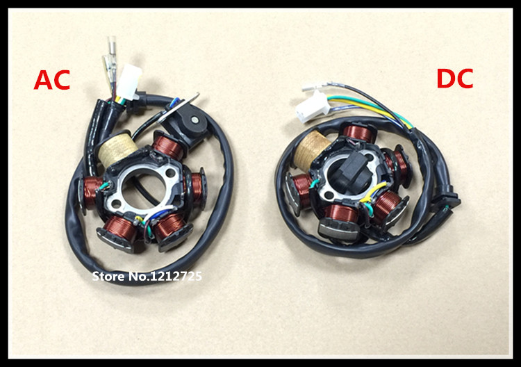 New Dc Ac Magneto Stator 6 Coil 6 Pole 5 Wire Gy6 125cc 150cc Dc Atv Moped Scooter Dc Stator