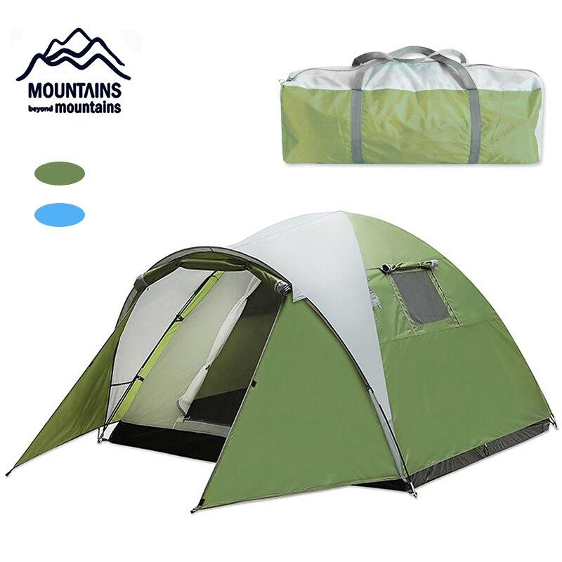 Portatile 3-4 persone ultra luce di campeggio esterna della tenda tessuto impermeabile tenda della famiglia della tendaPortatile 3-4 persone ultra luce di campeggio esterna della tenda tessuto impermeabile tenda della famiglia della tenda