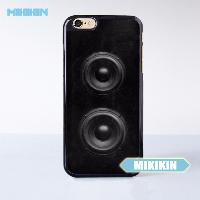huge discount 12543 8aed6 US $5.99 |MIKIKIN Dj Speaker Sound Music Lover Cell Phone Protective Case  For iPhone 7 7 Plus 6 6S Plus SE 5 5S 5C 4 4S Hard Plastic -in Half-wrapped  ...