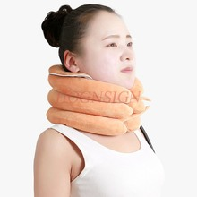 Cervical traction device home medical correction physiotherapy neck vertebral disease fixed inflatable support st
